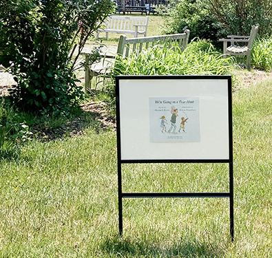 Image of Storywalk panel outside